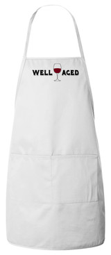Well Aged Wine Apron (White)