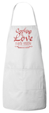 Cooking is Love Apron (White)