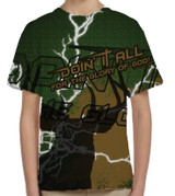 """Doing It All"" Hunting Graphic Children's Poly T-Shirt"