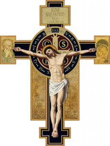 Benedictine Cross Large Wall Plaque Crucifix