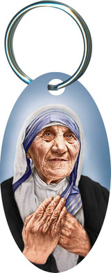 St. Teresa of Calcutta Oval Keychain