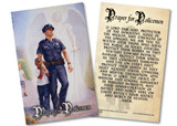 The Protector: Police Guardian Angel Holy Card with Prayer for Policemen