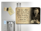 G.K. Chesterton True Soldier Quote Magnet
