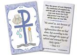 Baptismal Symbols Holy Card