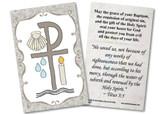 Baptismal Symbols Grey Holy Card