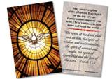 Holy Spirit Confirmation Holy Card