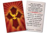 Holy Spirit Cross Confirmation Holy Card