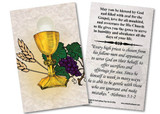 Chalice and Host Ordination Holy Card