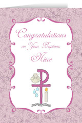 Niece's Baptism Greeting Card