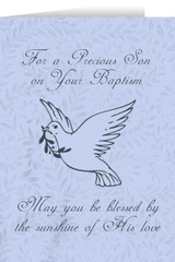 Son's Baptism Dove Greeting Card