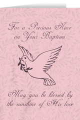 Niece's Baptism Dove Greeting Card
