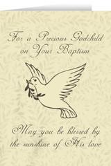 Godchild's Baptism Dove Greeting Card