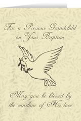 Grandchild's Baptism Dove Greeting Card