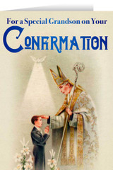 Grandson's Confirmation Greeting Card