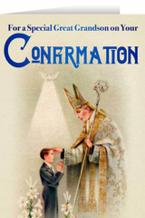 Great Grandson's Confirmation Greeting Card