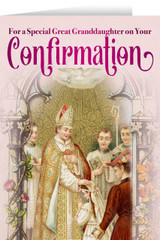 Great Granddaughter's Confirmation Greeting Card