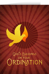 Holy Spirit Ordination Greeting Card