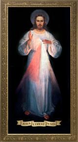 Divine Mercy Vilnius Original - Gold Framed Canvas