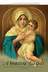 Madonna and Child Spiritual Bouquet Greeting Card