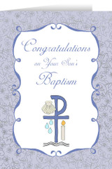 On Your Son's Baptism Greeting Cards