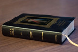 Personalized Catholic Bible with Divine Mercy Cover - Black Bonded Leather RSVCE