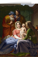 Holy Family with Grandparents Joachim and Anne Christmas Cards (25 Cards)