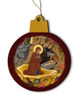 Nativity of Jesus Christ Icon Wood Ornament