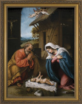 Nativity with Reaching Jesus Church-Sized Framed Canvas