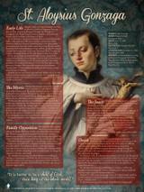 St. Aloysius Gonzaga Explained Poster