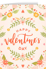 Happy Valentine's Day White Valentine's Day Greeting Card