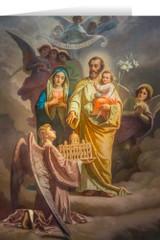 Joseph, Patron of the Church Greeting Card