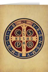 Benedictine Medal Greeting Card