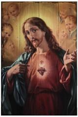 Sacred Heart of Jesus Rustic Wood Plaque