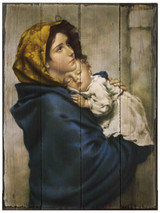 Madonna of the Streets Rustic Wood Plaque