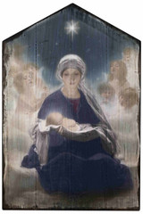 Star of Bethlehem Rustic Wood Plaque
