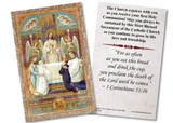 Traditional First Communion with Angles Holy Card