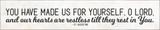 """Restless"" St. Augustine Quote Plaque"