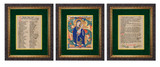 Ancient Irish Litany of Our Lady Matted - Ornate Dark Framed Art Set