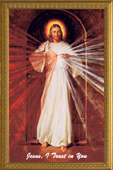 Divine Mercy by Robert Skemp - Church-Sized Framed Canvas