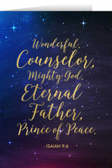 Isaiah 9:6 with Starry Night Christmas Cards (box of 25)