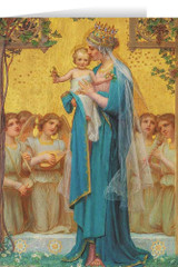 Madonna and Child by Enric M. Vidal Greeting Card