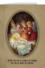 Vintage Angels in Adoration Christmas Cards (box of 25)