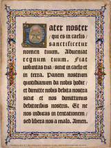 Latin Our Father Poster