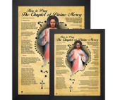 How to Pray the Divine Mercy Chaplet Poster