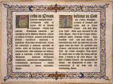 Latin-English Apostles Creed Poster