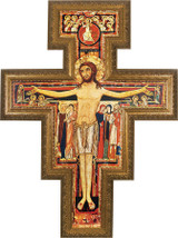 San Damiano Church-Sized Framed Canvas Cross