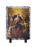 Mary Undoer of Knots Vertical Slate Tile