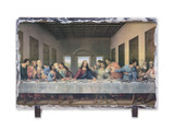 Last Supper by Da Vinci Restored Horizontal Slate Tile