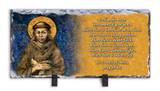 St. Francis by Cimabue Prayer Horizontal Slate Tile