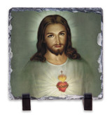 Traditional Sacred Heart of Jesus Square Slate Tile